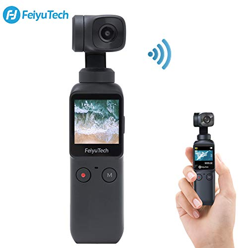3-Axis Pocket Gimbal Camera Stabilizer 4K HD 8X Slow Motion Smart Tracking Hyperlapse Motion Trail Time-Lapse Panoramic 1.3' Touchscreen 1.25' Attachable to Smartphone Video Vlog Feiyu Pocket Gimbal
