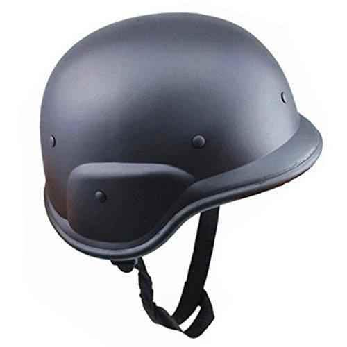 GEZICHTA Tactical M88ABS Helm, Camouflage Leicht Bike Helm mit Verstellbarer Kinnriemen Motorrad Helm CS Field Armee Helme, Schwarz