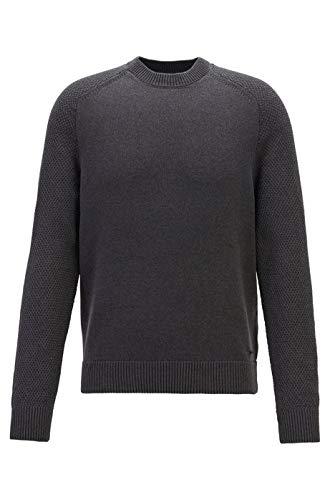BOSS Kamiscos - Camiseta de Punto para Hombre (Cuello Redondo) Negro Negro...