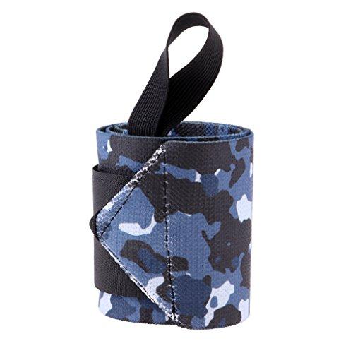 T TOOYFUL Wrist Straps Support Bracer Wraps Gurtschutz Mit Daumenschlaufe Für Den Sport - Hellblau, Links