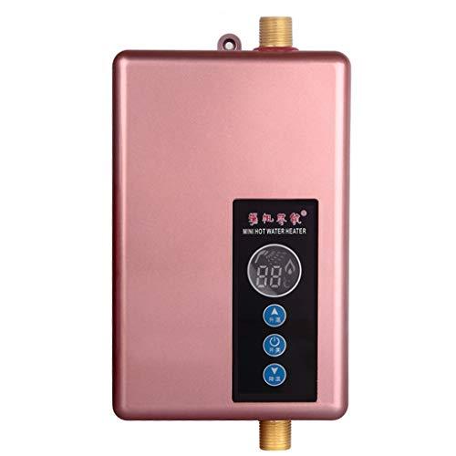 Home Mini Tragbarer Elektrischer Durchlauferhitzer - Küche Bad Camping Tankless Dusche Touchscreen Echtzeit-Anzeige Präzise Temperaturkontrolle Haushalt - 220V, 5.5KW