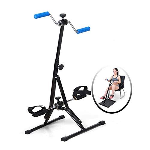 ZXFF Ejercitador De Pedal, Máquina De Recuperación De Fitness De Pedal Portátil, Ejercicio Bicicleta Brazo Y Pierna Ajustable Acondicionamiento De Acondicionamiento Pedal Ejercicio Máquina De Fitness