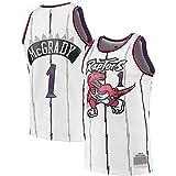 FZLQ Traje de Entrenamiento de Chaleco de Baloncesto para Hombre Raptors 1# McGrady, Camiseta de Baloncesto sin Mangas para Equipo y Jugador White-S