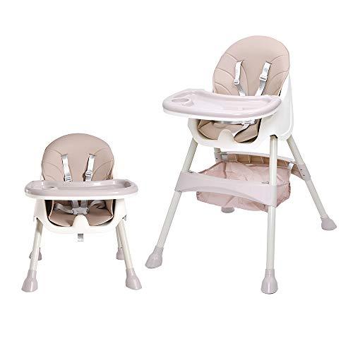 Bellanny 2 in 1 Hochstuhl, Babystuhl, Kinderhochstuhl, mit 5-Punkt-Sicherheitsgurte Hochstuhl, Hochstuhl Baby, Abnehmbares Tablett, höhenverstellbar, ab 6 Monate bis 3 Jahre alt -Pink