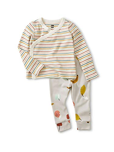Tea Collection Wrap Top Baby Outfit, 3 to 6 Months, Fruit
