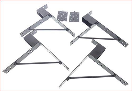 Gate Maker Kit, Exclusive Deep Socket Design, Anti Sagging Welded Steel Corner Bracket, Make a Perfect Garden or Picket Fence Gates, 4 Pieces, Heavy-Duty Hinges Included, by Tech Team