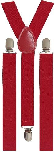 BRUBAKER bretelles unies, rouges - 24 mm