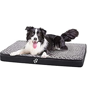 FAREYY Large Dog Beds for Small/Medium/Large Dogs, Dog Crate Bed with Washable Removable Cover, Dog Pillow Pet Bed with Non Slip Bottom Dog Mat