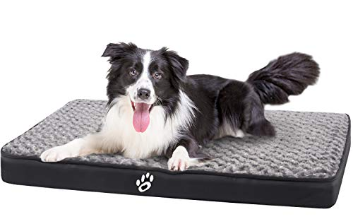 FAREYY Large Dog Beds for Small/Medium/Large Dogs, Dog Crate Bed with Washable Removable Cover, Dog...