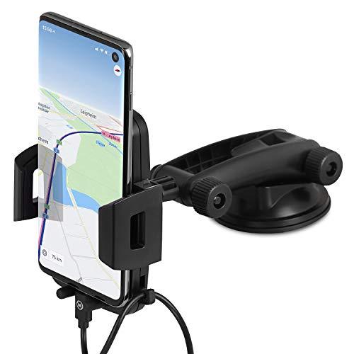 Wicked Chili Handyhalterung Auto Handyhalter kompatibel mit Samsung Galaxy S20 Ultra, S10, A51, A71 Auto KFZ-Halterung Smartphone Halterung Armaturenbrett & Windschutzscheibe 2 in 1 Saugnapf Halterung