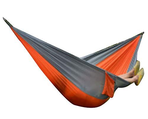 YAOTT Camping Hängematte Outdoor Ultraleicht Reisehängematten aus 200kg Tragkraft 270 x 140cm für Camping Travelling Garden Park Orange Grau 270 * 140cm