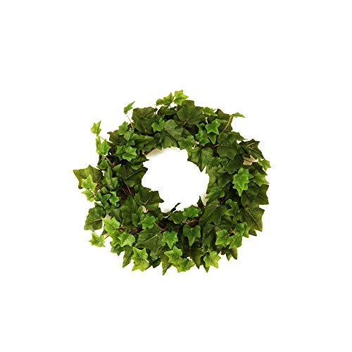 FloristryWarehouse Faux Silk Green Ivy Wreath 35cm/14 Inches Diameter
