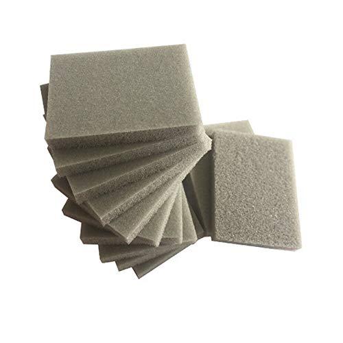 SUPERTOOL Foam Sanding Block, Sanding Sponge Flexible Foam Sandpaper Sanding Blocks with Wet and Dry Fine Double Sided Sanding Pads (6 Blocks,800-1000#)