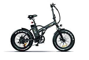 immagine di THE ONE Fat Bike ELETTRICA, Bici Unisex Adulto, Nero, no size