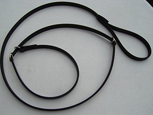 Angel for Pets MJH Moxon, Retriever Leine Beta BioThane 16mm breit, 3m lang mit Handschlaufe (schwarz)