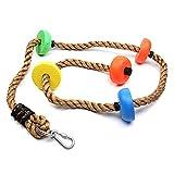 Cuerda de escalada de disco, cuerda de escalada de disco para niños con columpio de juguete para árbol de juguete colgante para el ocio lugar colorido 2 m