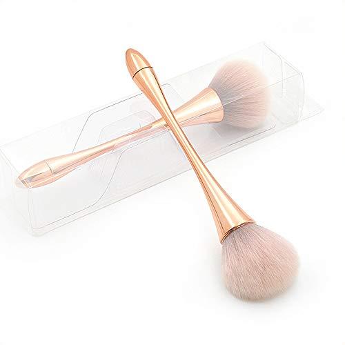 GBY Pinceau de fond de teint, pinceau de poudre, pinceau à blush, grand taille, poignée dorée rose (3 pièces) maquillage