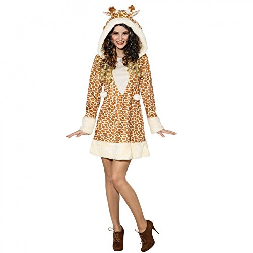 ORLOB KARNEVAL GmbH giraffenkostuum voor vrouwen jurk giraffe patroon dierentuin kostuum (34/36)