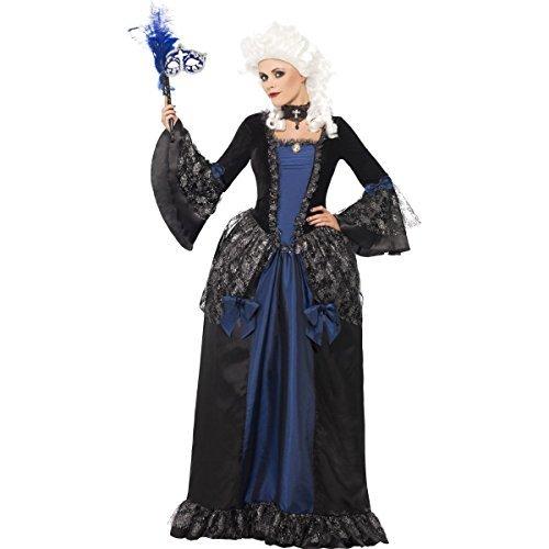 Generique - Edles Barock-Kleid für Damen Renaissance blau-schwarz
