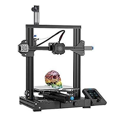 Tresbro Creality Ender 3 V2 3D Printer, FDM All Metal 3D Printers Kit with Upgraded Silent Motherboard, Carborundum Glass Bed, Mean Well Power Supply and New Touch Scree, Print Size 220x220x250mm