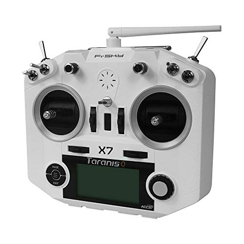 FrSky 2.4G ACCST System Taranis Q X7 16 Channels Transmitter Remote Controller White Battery and Battery Trays Not Include