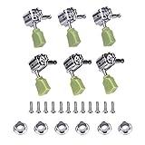 3 coppie di chiavi di accordatura, 3 lato destro e 3 lato sinistro, meccaniche, in argento, per accordatura...