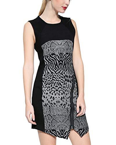 Desigual Vest_Santorini Vestido, Negro (Negro 2000), 40 para Mujer