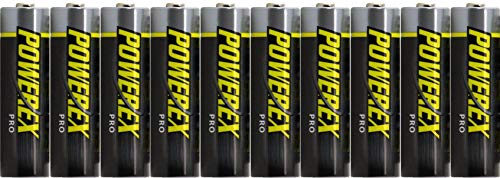 Powerex PRO AA High Capacity Rechargeable NiMH 1.2V, 2700mAh - 10 Batteries with Cases