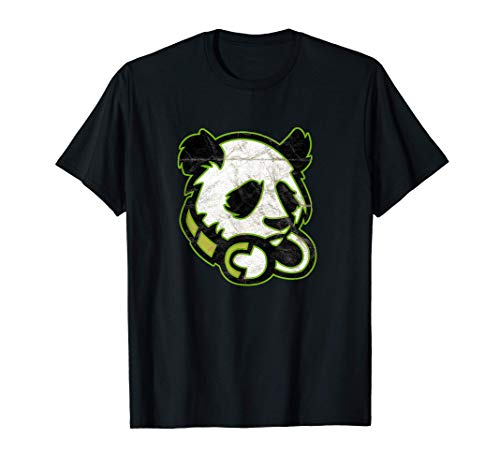 Gaming Panda With Headphones Headset Graphic For Gamer T-Shirt
