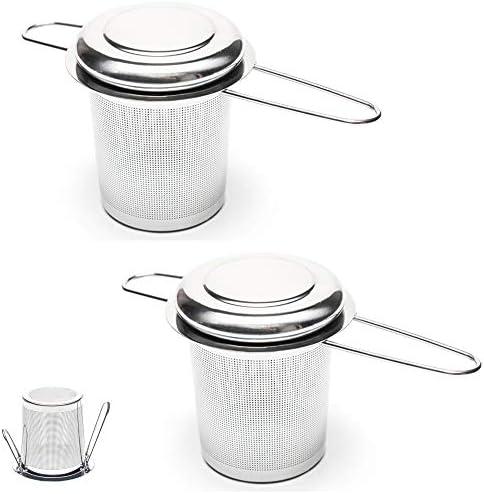 Valporia 2 Pcs Tea Infuser for Loose Tea Tea Strainer Fine Mesh Basket Stainless Steel product image