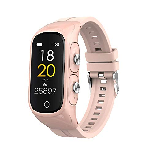 Fitness Tracker with TWS Bluetooth 5.0 Earbuds, LC.IMEEKE Color Screen Activity Trackers with Heart Rate Monitor Step Counter Calorie Counter Sport Smart Watch Sleep Monitor for Men Women Android iOS