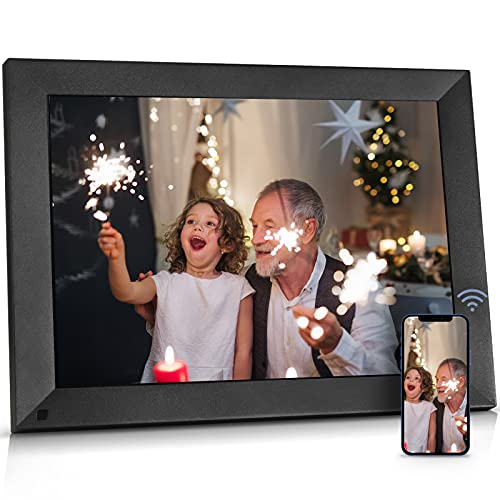 BSIMB 15 Inch Digital Picture Frame 16GB, Large WiFi Smart Cloud Photo Frame with Touch Screen, Auto-Rotate, Wall-Mounted, Easy Setup to Send Pictures&Videos via App Email Instantly