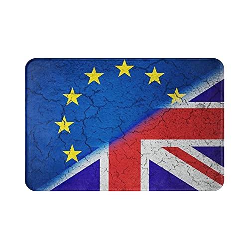 Sli8zhen Brexit - Felpudo con diseño de bandera de la Unión Europea (15,7 x 23,6 cm), color azul