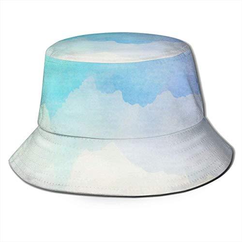 DUTRIX Sombreros de Cubo Transpirables con Parte Superior Plana Unisex Iconos de computadora Sombrero de Cubo Sombrero de Pescador de Verano-Acuarela Colorida-Talla única