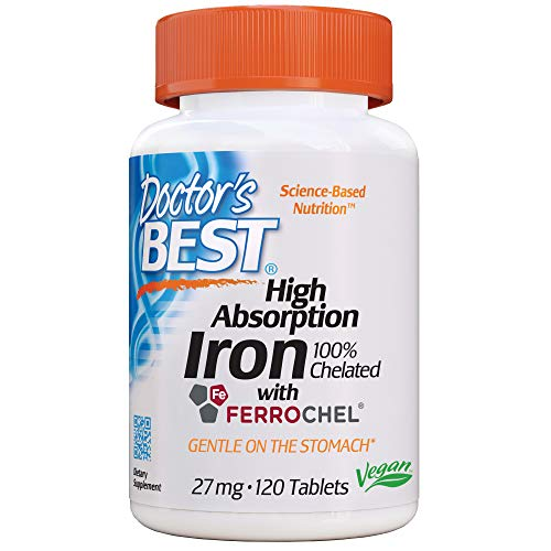 DOCTOR`S BEST Iron, 27 mg, 120 tabletten