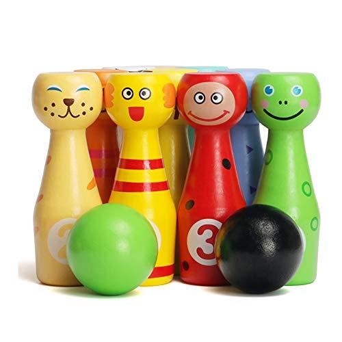 WFF Juguetes de los niños Kinder Interior de los Bolos del bebé del Juguete Infantil de la Bola Conjunto de Juguetes educativos 2 3 4 5 Niños Regalo (Color : 3sets)