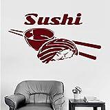 Wandtattoos Wandsticker 30X55 Cm Sushi Aufkleber Japan Food