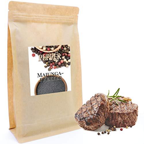 Majunga Pfeffer 200 g | Feinste Edel-Gewürzmischung | Perfekt zum Würzen von Steaks, Gulasch, Suppen, Soßen, Braten und Eintopfgerichten | Nachfüllpack | Gewürz