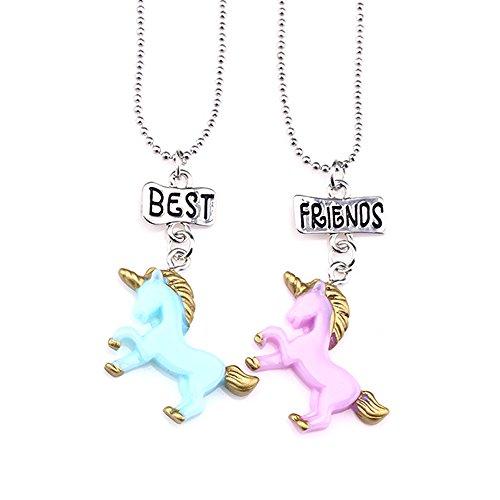 Collar con colgante de unicornio para ni?as Onnea