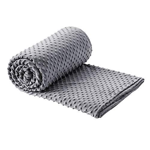 Dobeans Duvet Cover for Weighted Blanket 48x72 Kids Adults Minky Removable Weighted Blanket Duvet Cover Grey Soft Breathable Weighted Blanket Cover