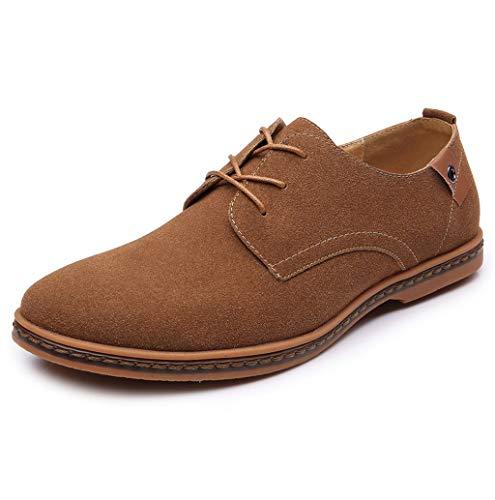 Herren Schuhe Business Schnürhalbschuhe Casual Schuhe Männer Wohnungen Schnüren Sich Männliche Wildleder Klassische Oxfords Schuhe Lederschuhe Übergrößen Gr.38-48 TWBB