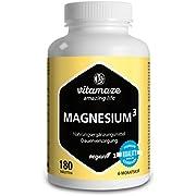 Vitamaze Magnesium³ Complex 350 mg Elemental Magnesium, 180 Vegan Tablets for 6 Months, Magnesium Citrate + Magnesium Carbonate + Magnesium Oxide, Organic & High Strength Supplement
