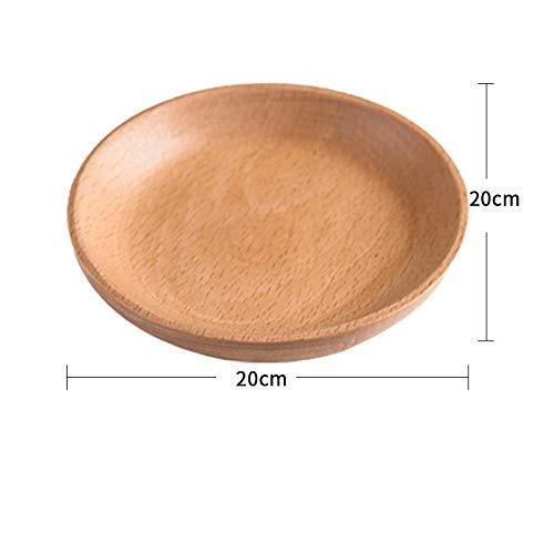 Massivholztablett Runde Trockenfrüchte Nüsse Holz Runde Schale Snack Samen Runde Schale Holzschale 20X20X2Cm