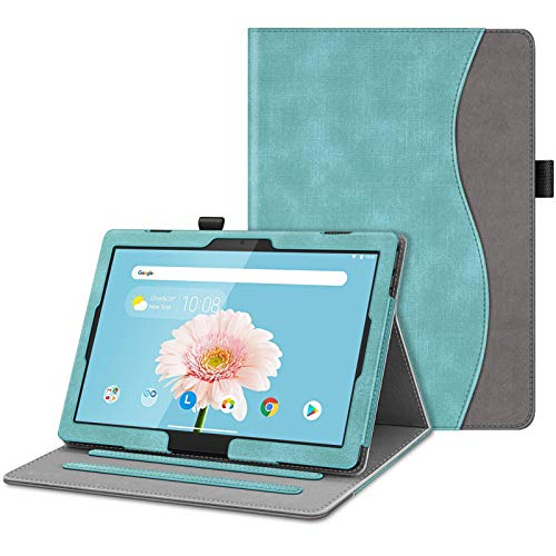 FINTIE Case for Lenovo Tab P10 (TB-X705F) / M10 (TB-X605F) /M10 HD(TB-X505F)10.1' Tablet 2018 Release - [Corner Protection] Multi-Angle Viewing Stand Cover, Turquoise