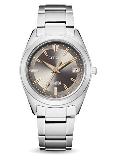 CITIZEN Reloj Análogo para Señoras de Eco-Drive con Correa en Super Titanio FE6150-85H