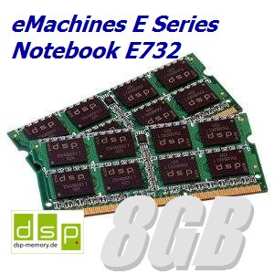 DSP Memory 8GB Speicher/RAM für eMachines E Series Notebook E732 (Set aus 2 Modulen)