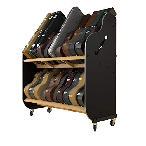 The Session-Pro Double-Stack Mobile Guitar Case Rack