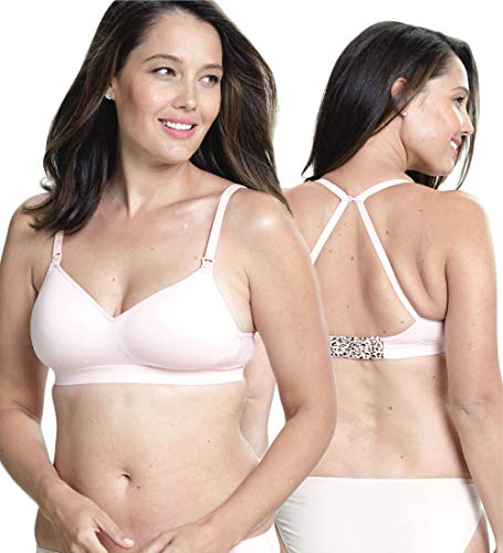 Cake Lingerie Charley M by Cake Buddy Women's Nursing Seamless | Contour T-Shirt Maternity Bra for Pregnancy Soutien-gorge de Maternité, Rose (Pink Pink), 85D (Taille fabricant: Small/Medium) Femme