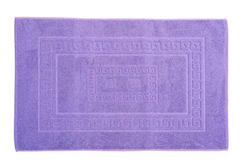 tappeto bagno ultrasottile HomeLife - Tappeto Bagno Cotone Lilla 45X60 cm Made in Italy | Tappetino per Il Bagno Assorbente in Spugna |Tappeto Doccia Colorato Lavabile in Lavatrice | Tappetini Scendidoccia [Lilla - 45X60]