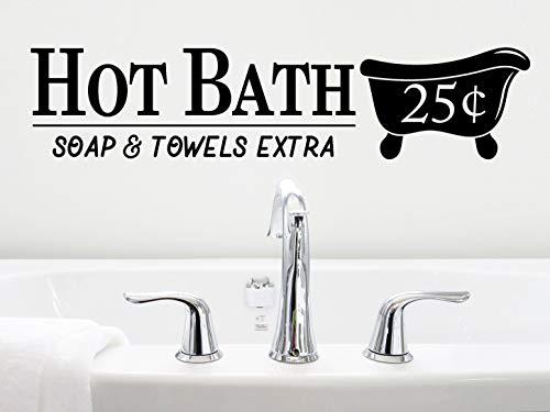 Adhesivo de PVC para pared de baño caliente con jabón y toallas